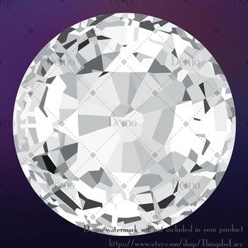 100 Round Diamond Clip Arts