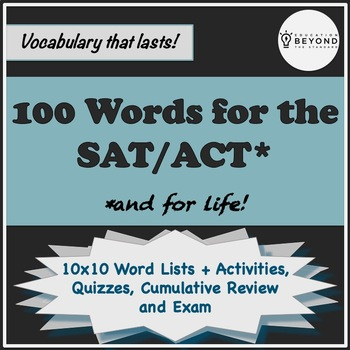 100 SAT Vocabulary Words, Activities, Quizzes, & More!