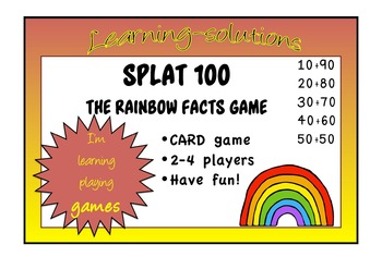 NUMBER FACTS GAME - SPLAT 100 - a Card Game adding multipl