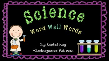 102 Science Word Wall Words