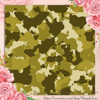 100 Seamless Army Military Camouflage Digital Papers
