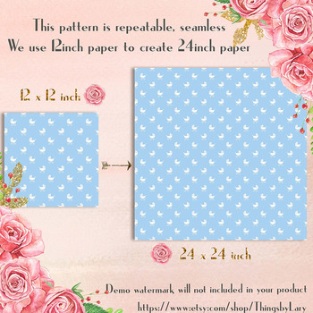 100 Seamless Baby Carriage Digital Papers