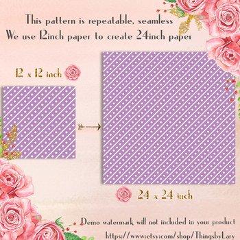 100 Seamless Big Diagonal Dot Line Digital Papers