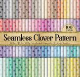 100 Seamless Clover Leaf St Patrick's day Digital Papers