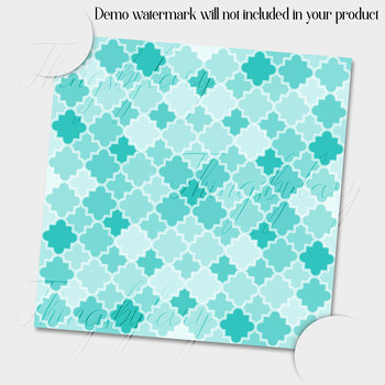 100 Seamless Color Quatrefoil Pattern Digital Papers