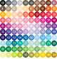 100 Seamless Color Star Pattern Digital Papers