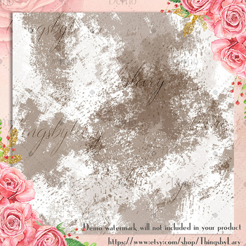 100 Seamless Distressed Watercolor Painting Digital Papers