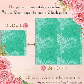100 Seamless Geometric Floral Digital Papers