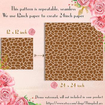 100 Seamless Giraffe Print Animal Zoo Print Digital Papers
