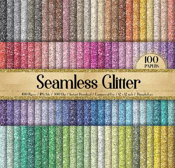 100 Seamless Glitter Texture Digital Papers