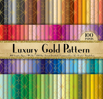 100 Seamless Luxury Gold Pattern Digital Papers