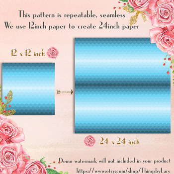 100 Seamless Ombre Scale Pattern Digital Papers