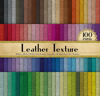100 Seamless Real Leather Texture Digital Papers