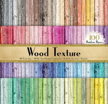 100 Seamless Rustic Wood Texture Digital Papers