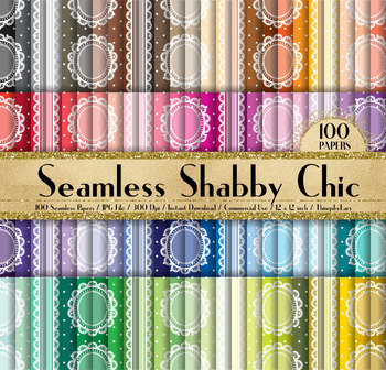 100 Seamless Shabby Chic Lace Digital Papers