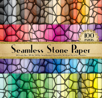 100 Seamless Stone Digital Papers