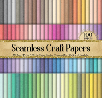 100 Seamless Tileable Craft Digital Papers