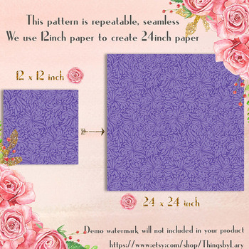 100 Seamless Tinted Ornament Digital Papers, Wedding Pattern