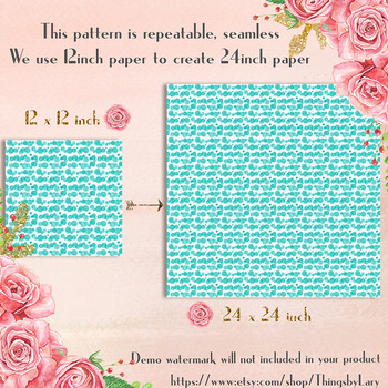 100 Seamless Watercolor Bokeh Dot Pattern Digital Papers