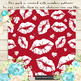 100 Seamless White Lipstick Kiss Love Valentine Papers