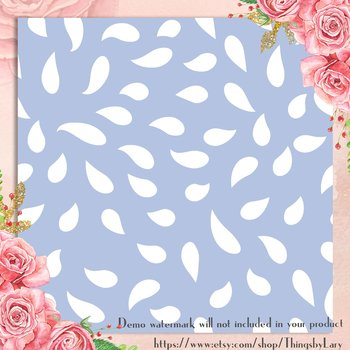 100 Seamless White Petal Flower Digital Paper Pastel Wedding