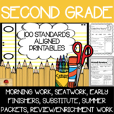 100 Second Grade Distance Learning Printables