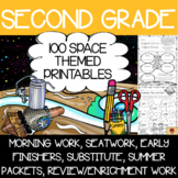 Second Grade Space Themed Printables