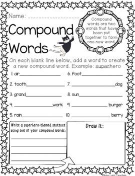 100 Second Grade Superhero Theme No Prep Language, Reading, Writing, & Math Work
