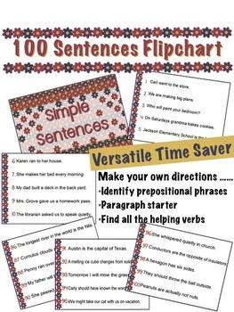 100 Sentences Flipchart for Promethean Activboard