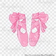 100 Shimmer Bow Kid and Baby Ballet Shoes Clip Arts