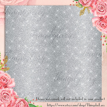 100 Shimmer Diamond Brushed Metal Texture Digital Papers