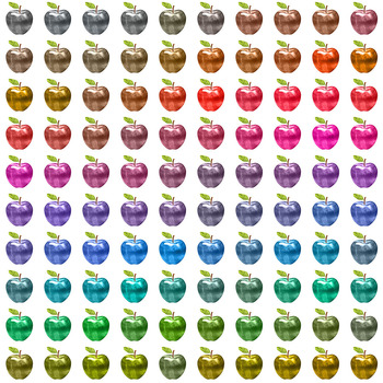 100 Shiny Apples Clip Arts Scrapbook Garden Kit Fruit Clip Arts