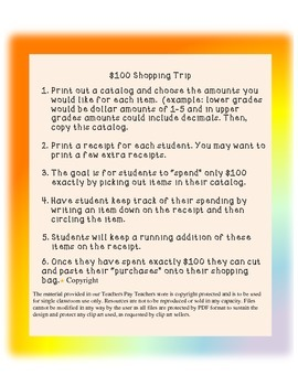 $100 Shopping Trip- 100th Day of School!