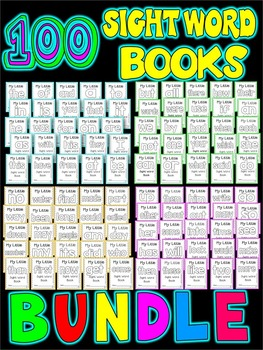 SIGHT WORD BOOKS-Fry's first 100 word sight word printable books