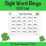 100 Sight Word List Bingo