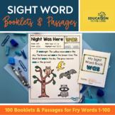 100 Sight Word Booklets | Sight Word Books | Kindergarten