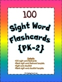 100 Sight Word Flashcards and Sight Word Checklist