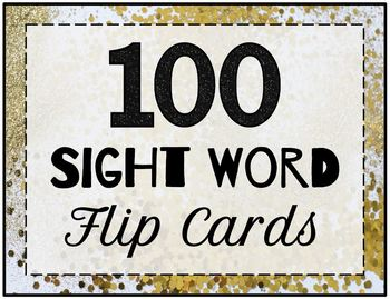 100 Sight Word Flip Cards