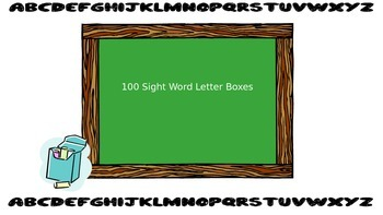 100 Sight Word Letter Boxes