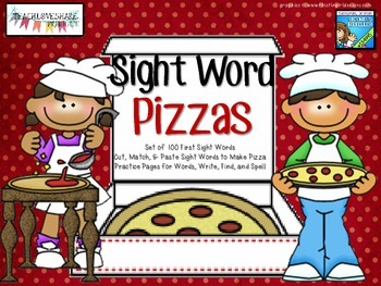 100 Sight Word Pizza Pack
