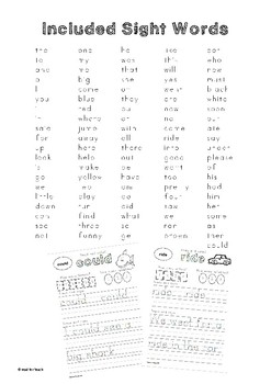 100 Sight Word Practise Worksheets_Trace and Copy