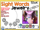100 Sight Words 3 Interactive Jewelry Sets - Whimsy Worksh
