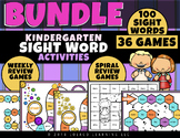 100 Sight Words!  36 Kindergarten Sight Word Games