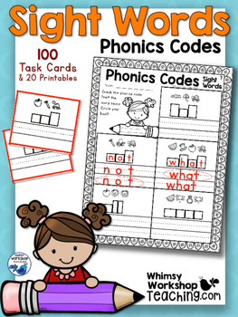 100 Sight Words Break The Phonics Code - Whimsy Workshop Teaching
