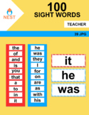100 Sight Word Cards and Reference Cards