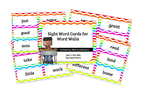 100 Sight Words Cards for Word Walls Zig Zag Pattern (Set 2)