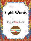 ALL Kindergarten High Frequency Words (Sight Words) Posters – Circus