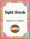 ALL Kindergarten High Frequency Words (Sight Words) Posters – Donuts