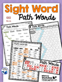 100 Sight Words Paths Printables + Editable Templates