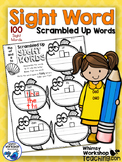 100 Sight Words Scramble Printables - Whimsy Workshop Teaching